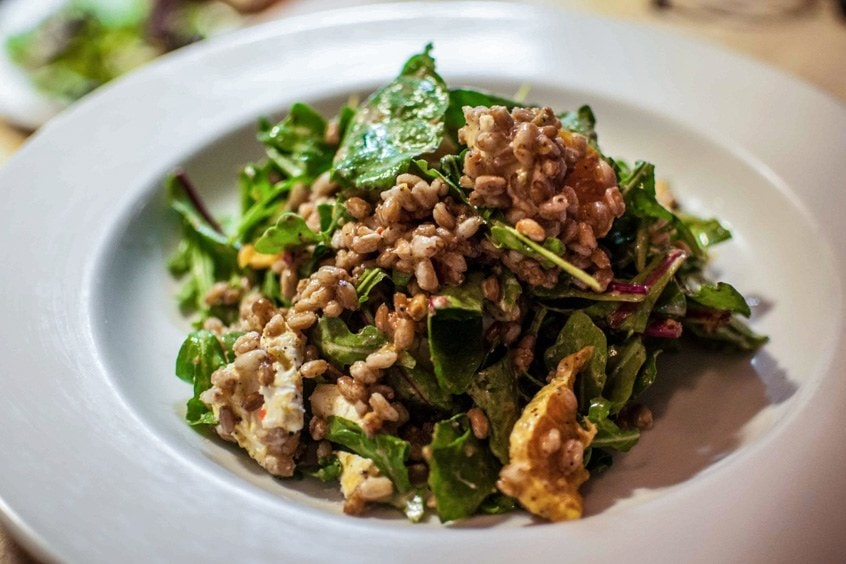 Farro and Goat Cheese Salad